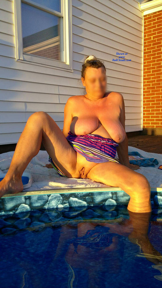 Pic #1Pool Time - Big Tits, Outdoors, Shaved, Wife/wives