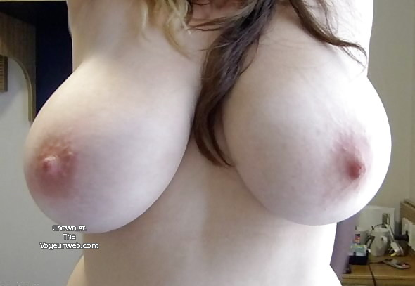 Pic #1 Very large tits of a co-worker - Angie