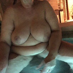 Backyard Pool BBW - Nude Wives, Bbw, Big Tits, Outdoors