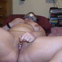 Miss And Her Glass Dildo - Nude Amateurs, Big Tits, Masturbation, Toys, Shaved