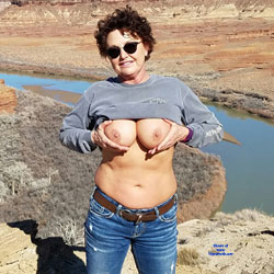 Titty Flashing Outdoors - Topless Wives, Big Tits, Brunette, Outdoors, Amateur, Mature