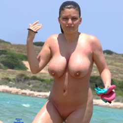 Busty Tits On The Beach