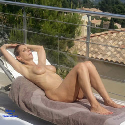 On My Rooftop - Nude Wives, Big Tits, Brunette, Outdoors