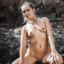 Sitting Naked In Nature