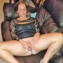 Dildo Fucking On Couch