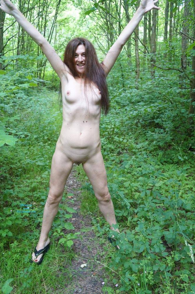 Pic #1Into The Woods - Nude Girls, Brunette, Outdoors, Shaved, Nature