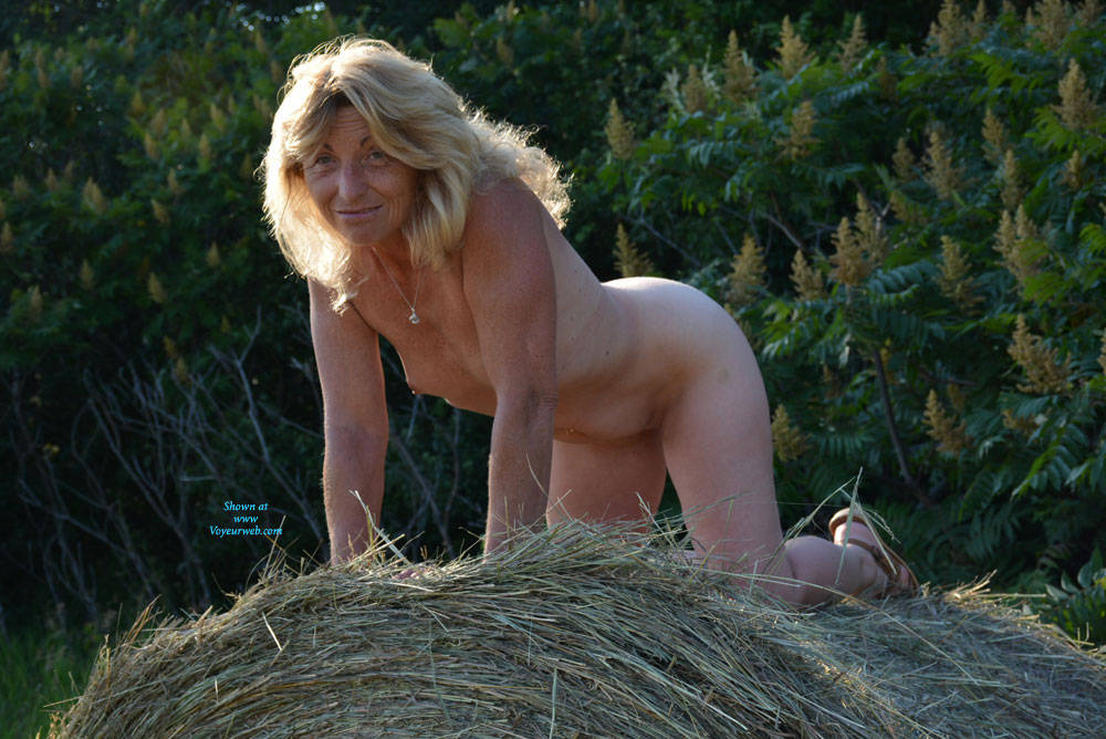 Pic #1Time For Haying 2 - Nude Amateurs, Blonde, Outdoors
