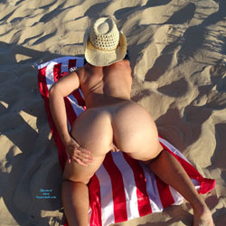 Flag And Sand 2 - Nude Amateurs, Outdoors, Shaved