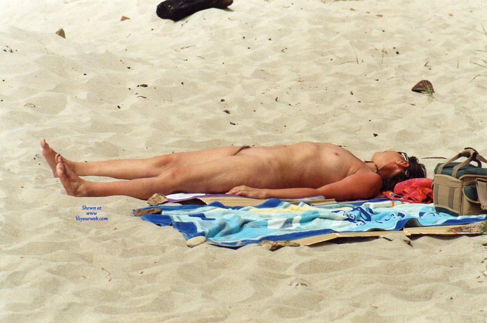 Pic #1 My Milf Bulgarian Wife Sunbathing Nude - Nude Wives, Beach, Outdoors