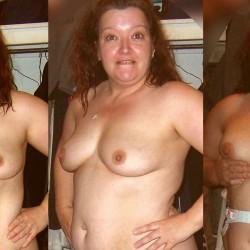 Medium tits of a neighbor - Chubby MILF