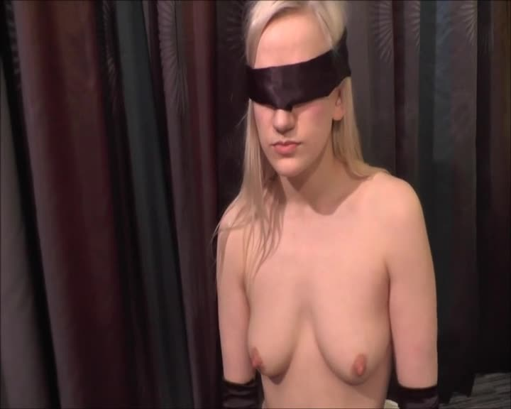 Pic #1Molly Blindfolded And Sucking - Nude Girls, Big Tits, Blonde, Blowjob