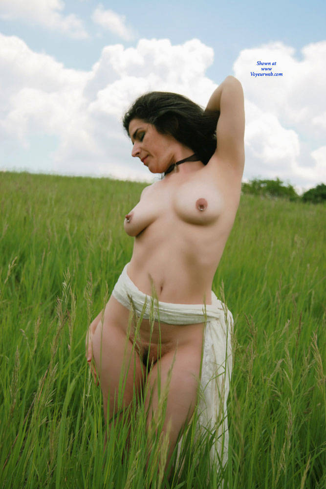 Pic #1 More From The Park - Nude Girls, Big Tits, Brunette, Outdoors, Amateur, Body Piercings