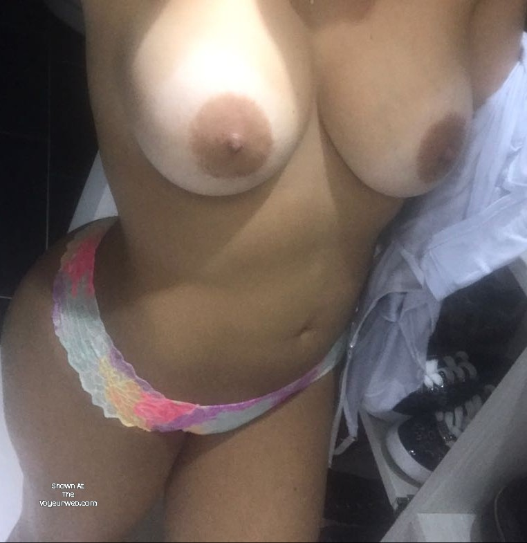 My girlfriend has huge tits