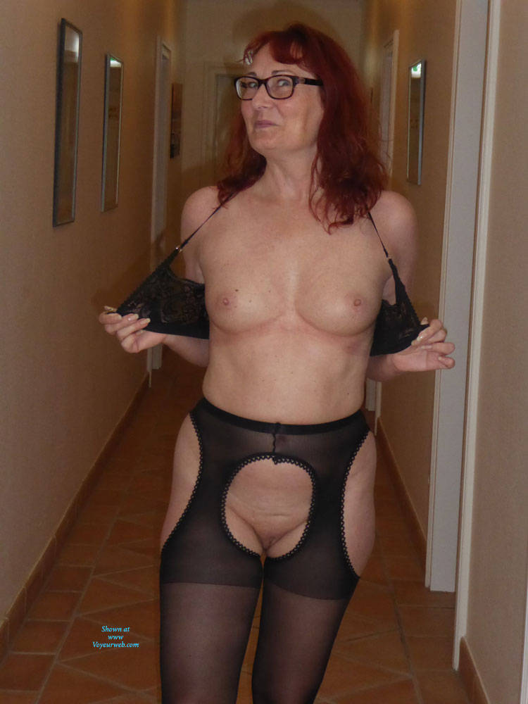 Pic #1Summer Hollyday - Big Tits, Public Exhibitionist, Flashing, Lingerie, Public Place, Redhead, Shaved