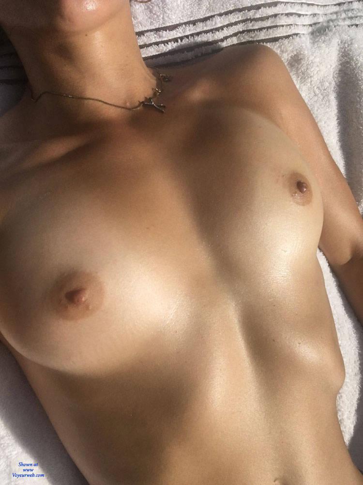 Bare Breasts In Backyard - August, 2017 - Voyeur Web-8595