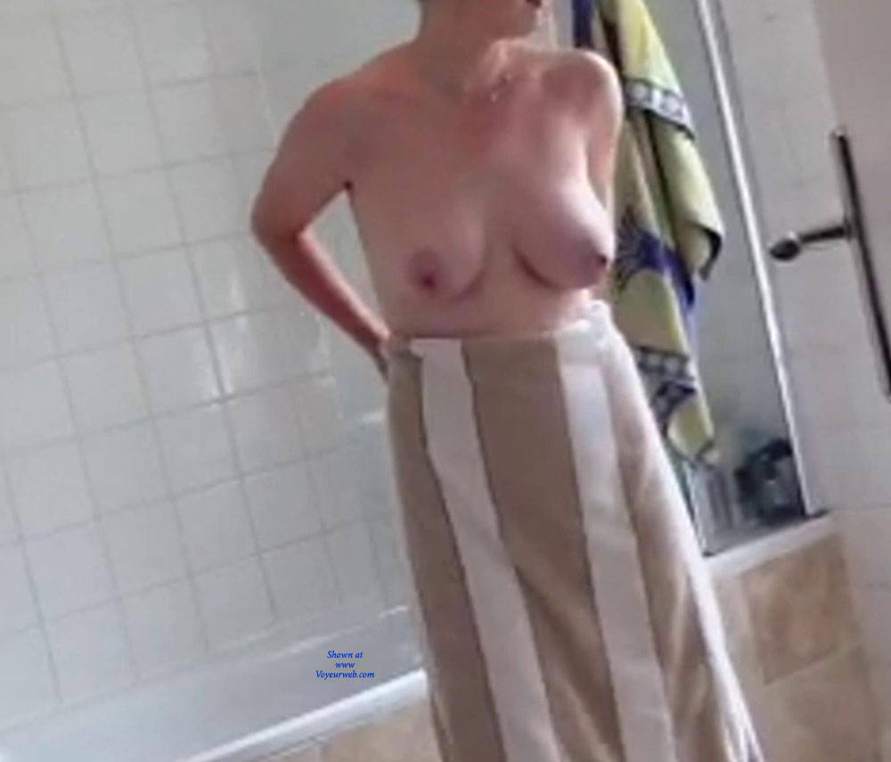 image Wife after shower window spying 2
