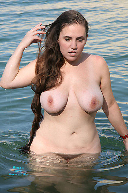 Pic #1Lake Travis Wading - Nude Girls, Big Tits, Brunette, Bush Or Hairy, Beach Voyeur