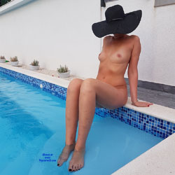 Sitting Naked At The Pool - Firm Tits, Full Nude, Hard Nipple, Nude Outdoors, Water, Hot Girl, Naked Girl, Sexy Body, Sexy Feet, Sexy Figure, Sexy Girl, Sexy Legs, Amateur , Pool, Sitting, Naked, Sexy Legs, Firm Tits, Hat