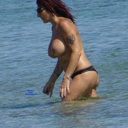 Topless Beach la Commenda Puglia Italy