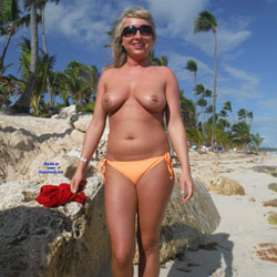 Nude In The Dominican - Topless Wives, Beach, Big Tits, Blonde, Outdoors, Body Piercings
