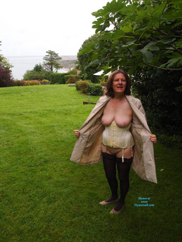 Pic #1Garden Wander - Big Tits, Brunette, Outdoors, Nature, Amateur