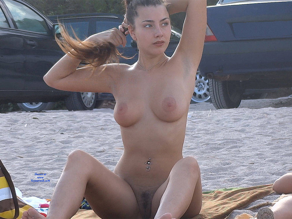 Pic #1Hairy Brunette 2 - Nude Girls, Big Tits, Brunette, Outdoors, Bush Or Hairy, Beach Voyeur