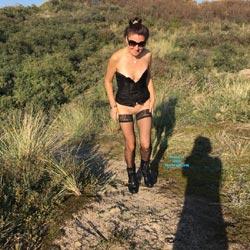 Dunes Of Holland - Pantieless Girls, Brunette, Outdoors, Shaved, Nature, Amateur, Lingerie