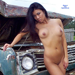 Junkyard Trucks - Nude Girls, Big Tits, Brunette, Outdoors, Shaved