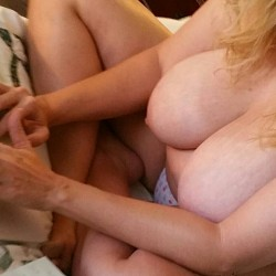 Very large tits of my wife - My wife.