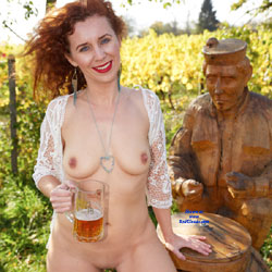 Drinking Beer Naked In Outdoor
