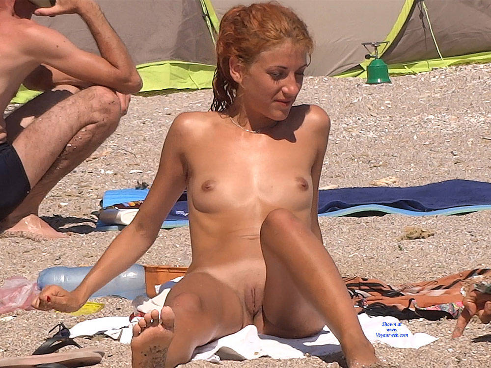 Pic #1Red Haired Beauty - Nude Girls, Beach, Outdoors, Redhead, Shaved, Firm Ass, Beach Voyeur