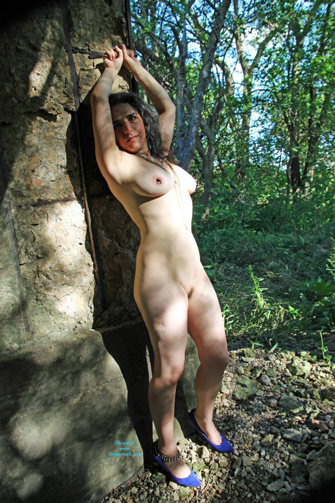 Pic #1Under An Old Railroad Trestle - Nude Amateurs, Big Tits, Brunette, Outdoors, Bush Or Hairy