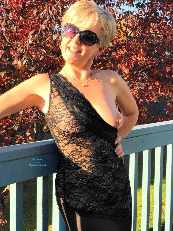 Pic #1Fall Splendour  - Big Tits, Blonde, Outdoors, See Through, Amateur, Big Nipples