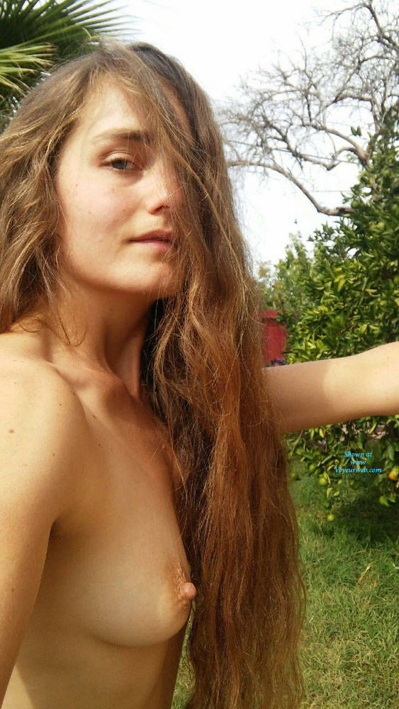 Pic #1Suns Out Tits Out - Brunette, Outdoors, Amateur