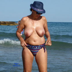 Wife Topless - Topless Wives, Beach, Big Tits, Brunette, Outdoors, Amateur