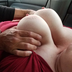 Stranger Grabbing Wife's Tits - Big Tits, Outdoors, Wife/wives, Amateur