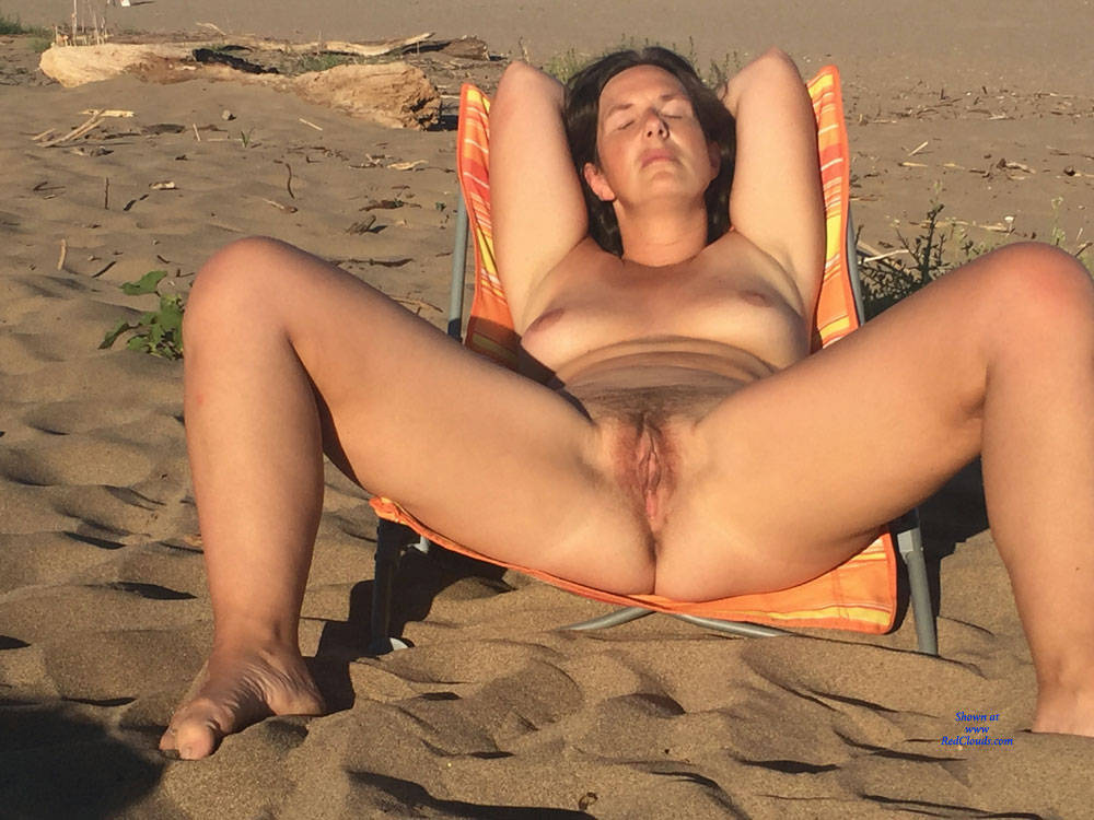Pic #1On The Beach! - Nude Girls, Beach, Brunette, Outdoors, Bush Or Hairy, Amateur