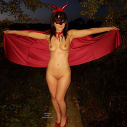 Devilicious Naked Pose In Red