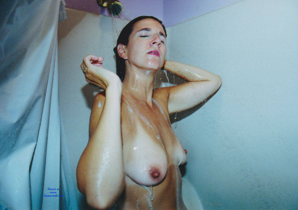 Girl taking shower voyeur