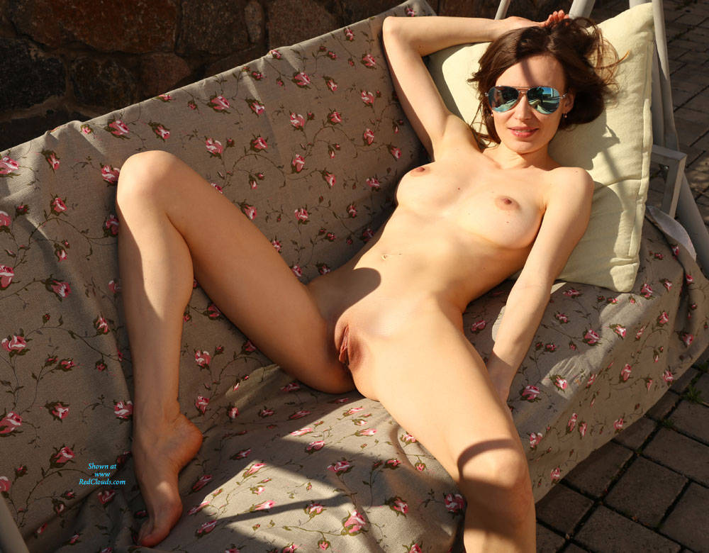 Pic #1One Day Of Doing Nothing - Nude Wives, Brunette, Outdoors, Shaved