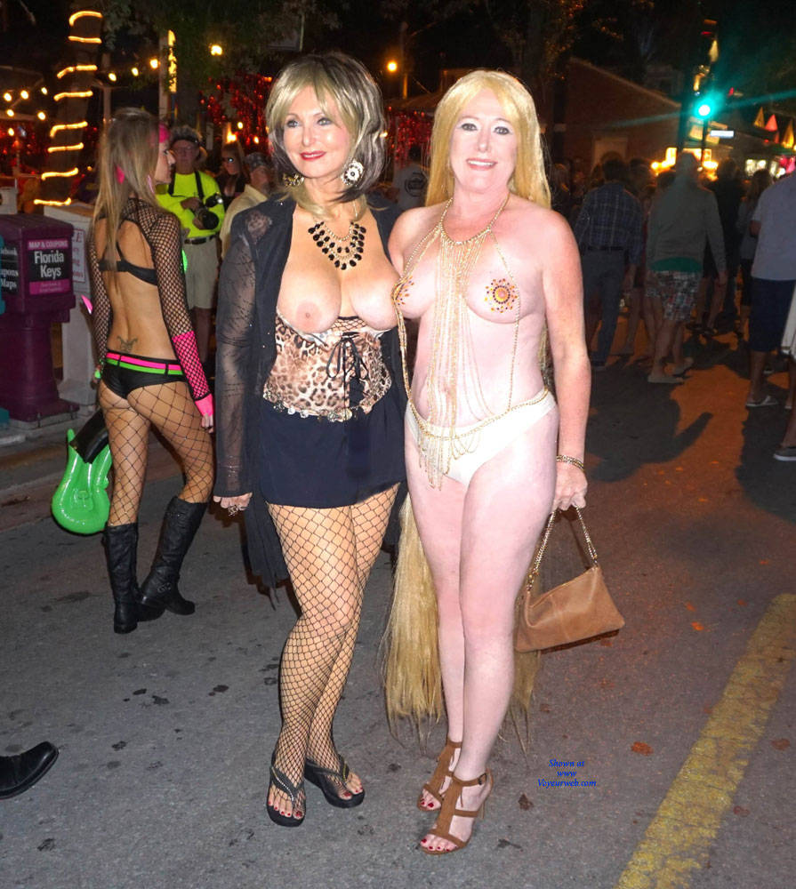 Pic #1Fantasy Fest In Key West - Big Tits, Public Exhibitionist, Outdoors, Public Place