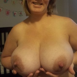 Very large tits of my wife - Michele