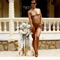 Nude Girl Standing By Little Statue Outdoor - Shaved Pussy, Small Breasts, Hot Girl, Naked Girl, Nude Amateur, Nude Wife , Standing By Statue, Belly Piercing, Little Tits, Nude In Heels, Artistic Pose, Slim Body, Nude Wife Outdoors, Athletic Body, Naked On Heels, Statuesque, Nude Girl In Heels, Totally Naked