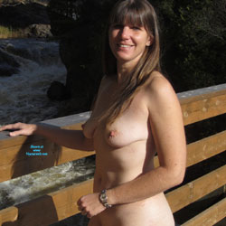 Little Walk On A Cold Day - Nude Girls, Brunette, Outdoors, Shaved, Amateur