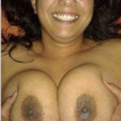 Extremely large tits of my wife - Manuella