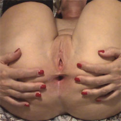 Playing With Her Holes - Nude Amateurs, Big Tits, Shaved