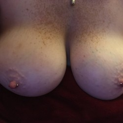 Very large tits of a co-worker - Carrie
