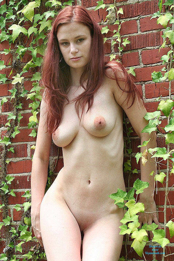 Pic #1Wall Of Ivy - Nude Girls, Big Tits, Outdoors, Redhead, Shaved