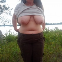 Extremely large tits of my girlfriend - sweetie