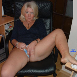 In The Office - Big Tits, Blonde, Amateur